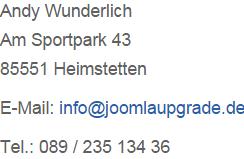 impressum adresse